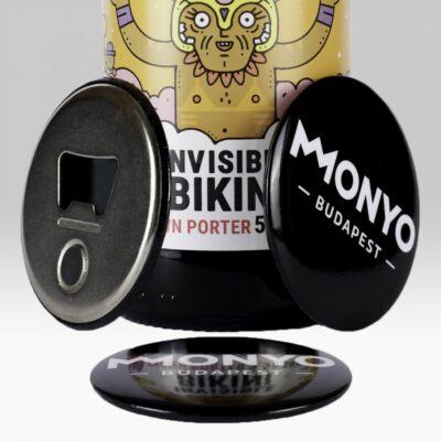 MONYO Brewing sörnyitós hűtőgmágnes - fekete