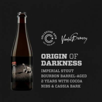 Collective Arts Origin of Darkness w/ Cocoa Nibs & Cassia Bark collab Voodoo