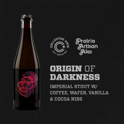 Origin of Darkness w/ Coffee, Wafer, Vanilla & Cocoa Nibs | Collective Arts (CAN) / Prairie (USA) | 0,5L - 11,9%