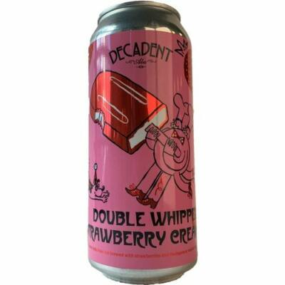 Double Whipped Strawberry Cream Pop   Decadent Ales (USA)   0,473L - 7,4%