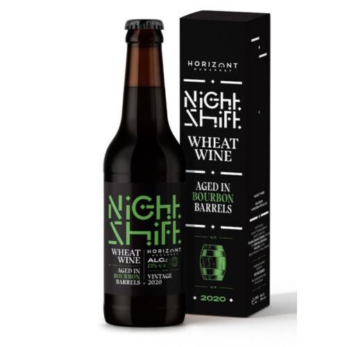 Night Shift Vintage 2020 Wheat Wine Aged in Bourbon Barrels | Horizont (HU) | 0,33L - 13%